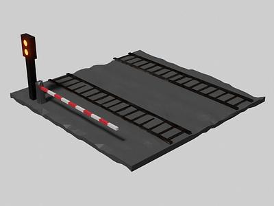 Isometric Railroad Tracks render renderings 3d artist 3dartwork 3dart modelling illustration modeling isometric 3d 3disometric 3d art rendering isometric design blender 3d