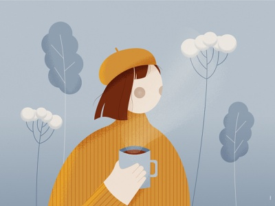 My shot for a DTIYS by Tímea people minimalist minimalism minimal illustration character drawinyourstyle coffee woman dtiys challenge