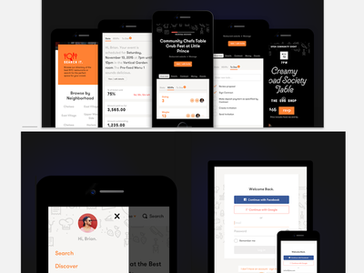 Upcoming Case Study shots (3 of 3) ios web app responsive ui brian hoff design