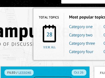 Campus map topics