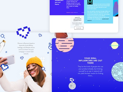 Early explorations for Markerlys upcoming redesign. marketing platform planets space pixel