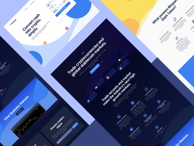 Bitspark - Website branding website bitcoin cryptocurrency finance crypto