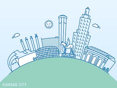 Kansas City Skyline lineart skyline kansas city