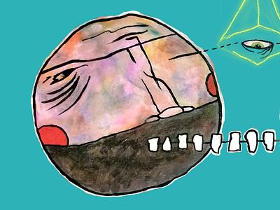 Illuminope apparel shirt drawing illustration