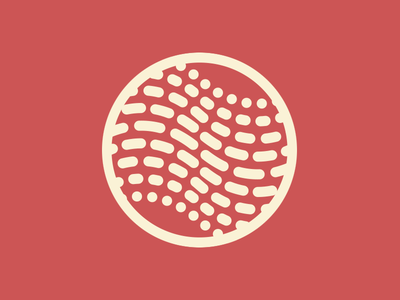 Approximate Logo swirly lines dots dotted symbol tilde