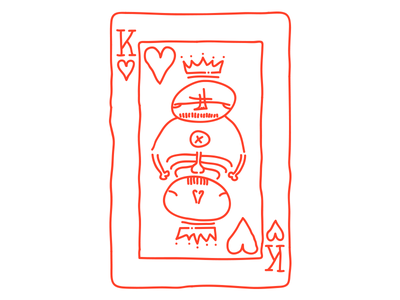 King of Hearts illustration heart king card drawing