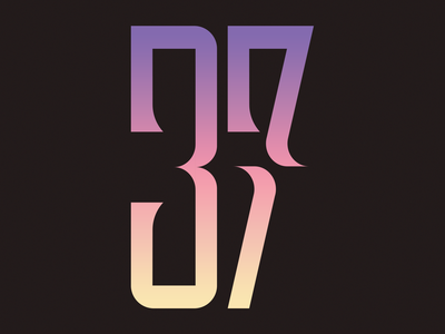 37 37 numbering number typography type