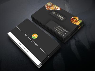 Restaurants business card design