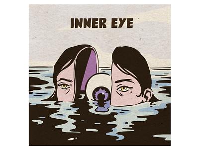Inner eye eye vintage illustration vintage inspired retro illustration illustration girl illustration girl