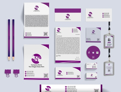 stationary mockup Design