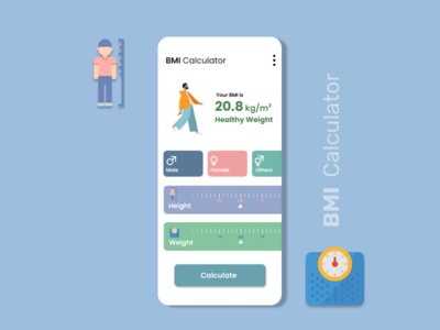 BMI Calculator UI Design | Daily UI 04