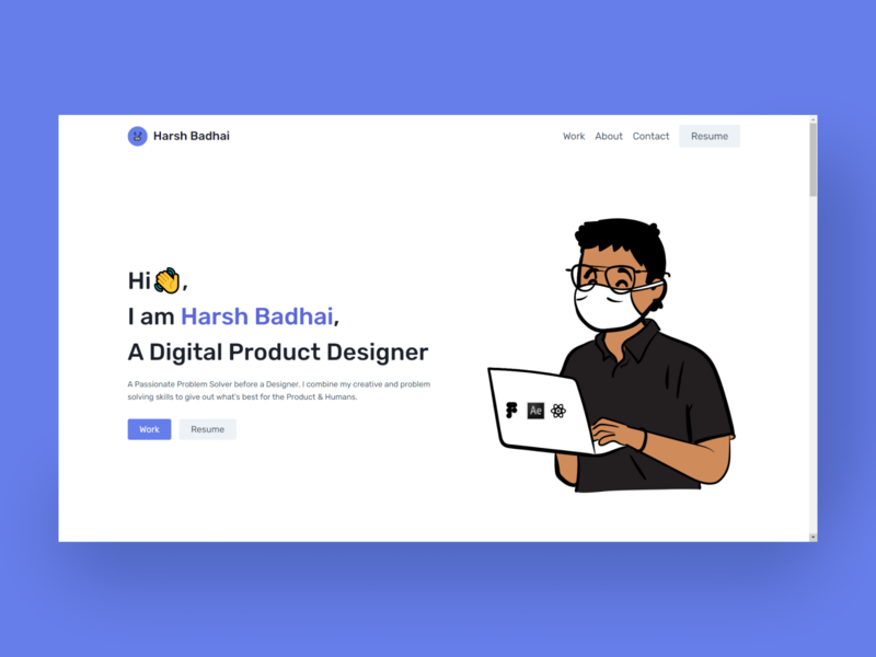 My Portfolio Website light clean minimal website portfolio webdevelopment webdesign landingpage reactjs design ux ui figma
