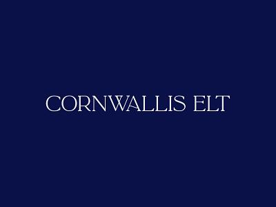 Cornwallis Elt logo design typography type illustrator design idenity branding brand logo