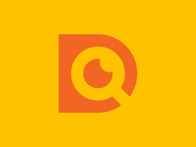 D + 🔍 + 🌙 branding brand discover find search moon logo letter