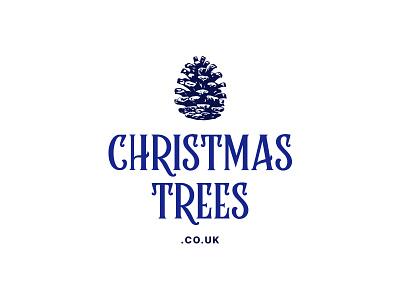 Christmas Trees Logo illustration branding brand identity logo trees
