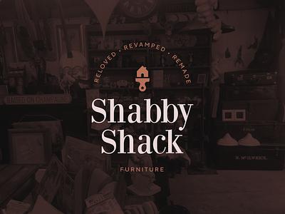 Shabby Shack 2.0 illustration identity furniture branding brand logo