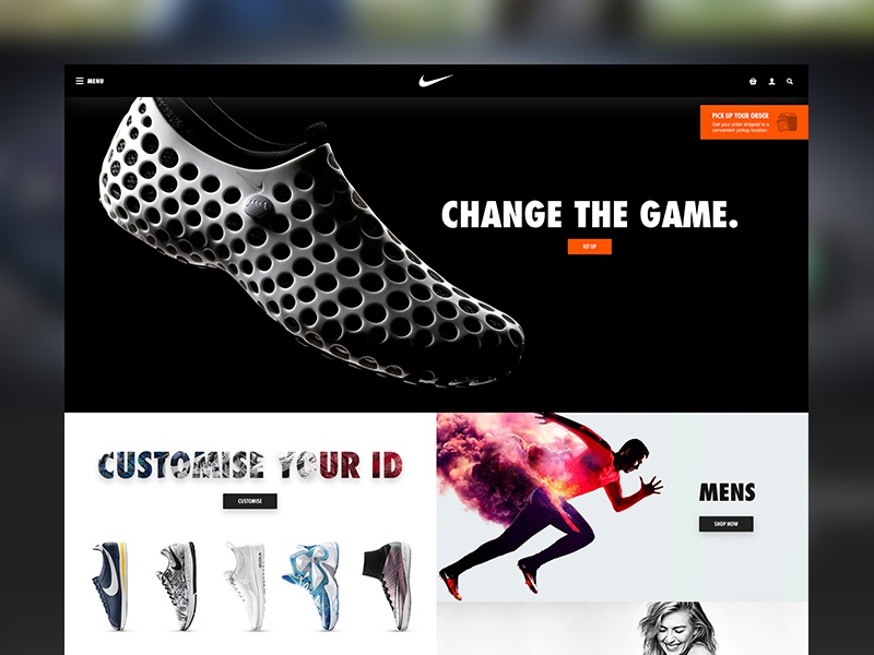 449320bf3627 Nike Website Redesign by Joe Taylor