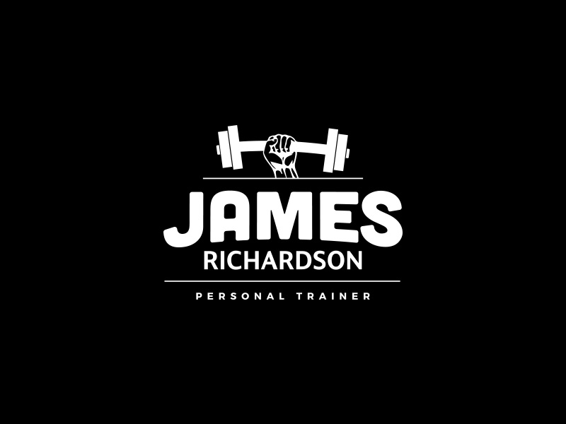 James Richardson Personal Trainer Logo gym branding trainer personal illustrator photoshop type identity brand logo