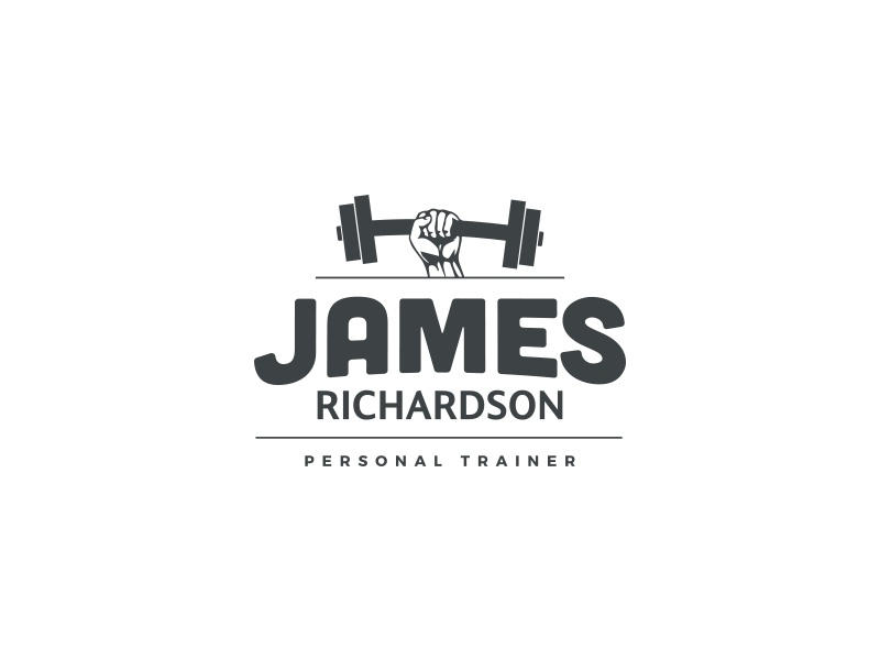 james richardson personal trainer logo by joe taylor dribbble