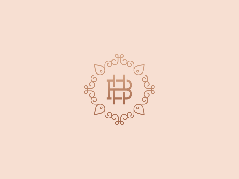 Bethany Hughes Beauty salon beauty globe h b illustration branding brand logo