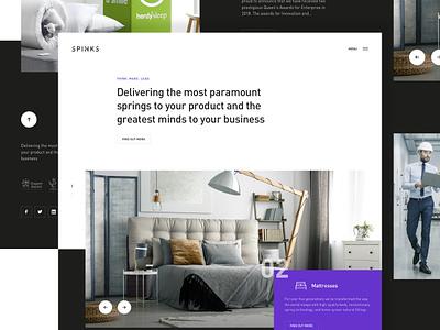 Spinks Redesign Concept spring ux website branding minimal ui web spinks