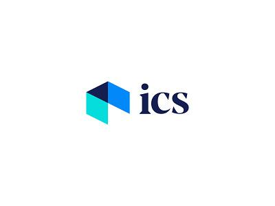 ICS Logo negative space space room architecture brand identity brand design ics design illustration branding brand identity logo