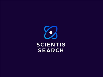 Scientis Search Approved Logo recruitment search nucleus atom science illustration brand branding logo identity