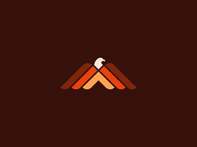 Unused Concept Roof + Eagle 🦅 + 🏠 bird roofs rooftop eagle roof illustration branding brand identity logo illustrator