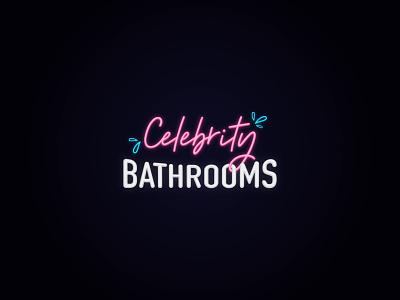 Celebrity Bathrooms Identity illustrator illustration branding brand identity logo celebrity