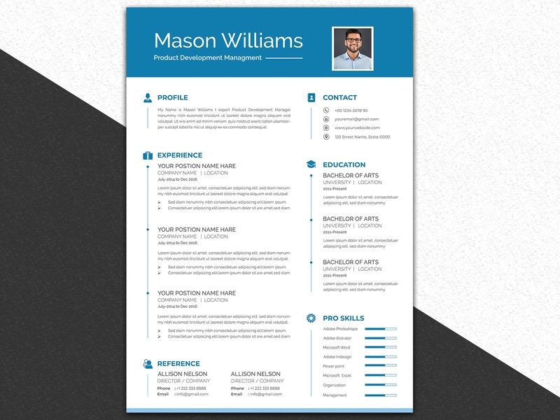 Resume Template Design design vector branding typography cv design resume design resume template cv template word cv resume template resume cv resume
