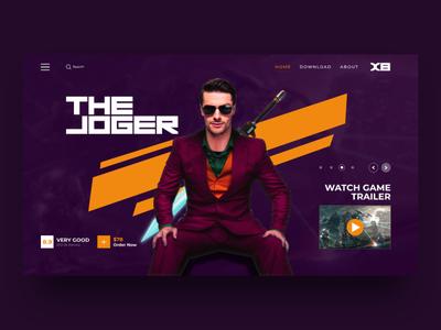 The Joger - Web Design for Gaming technology tech action the joker joker gaming website ux ui ui ux webdesign web