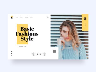 Web Design for Fashion Style aesthetic creative dribbble uiux fashion design white simple minimalist minimalistic fashion landingpage webdesign ui