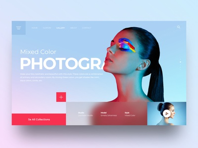 Web Design for Photographer photo blurred background photoshop photography photographer design aesthetic creative ui uiux landingpage webdesign
