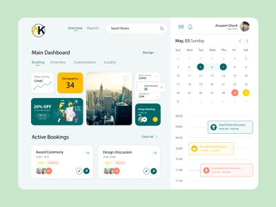 Calendar Dashboard Design flat website minimal web ui ux illustration icon design app