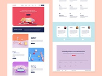 Concept for female entrepreneurs website