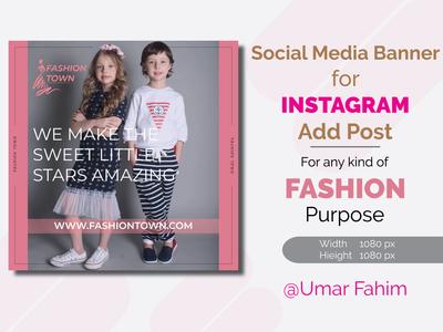 Instagram Add post Banner for Fashion branding