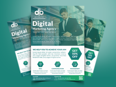 Digital Marketing Agency Flyer Design poster design branding minimal creative design graphicdesign branding design marketing agency business flyer corporate flyer template flyer design