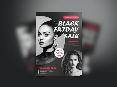 Black Friday Fashion Sale Branding Poster minimal free print product brochure flyer template creative design graphicdesign poster branding sale fashion