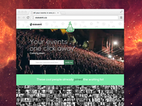 evevent.co landing page