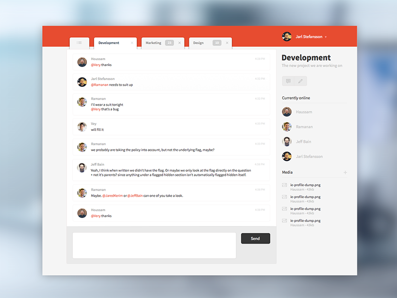 First sketch project clean interface sketch 3 chat ui ux web