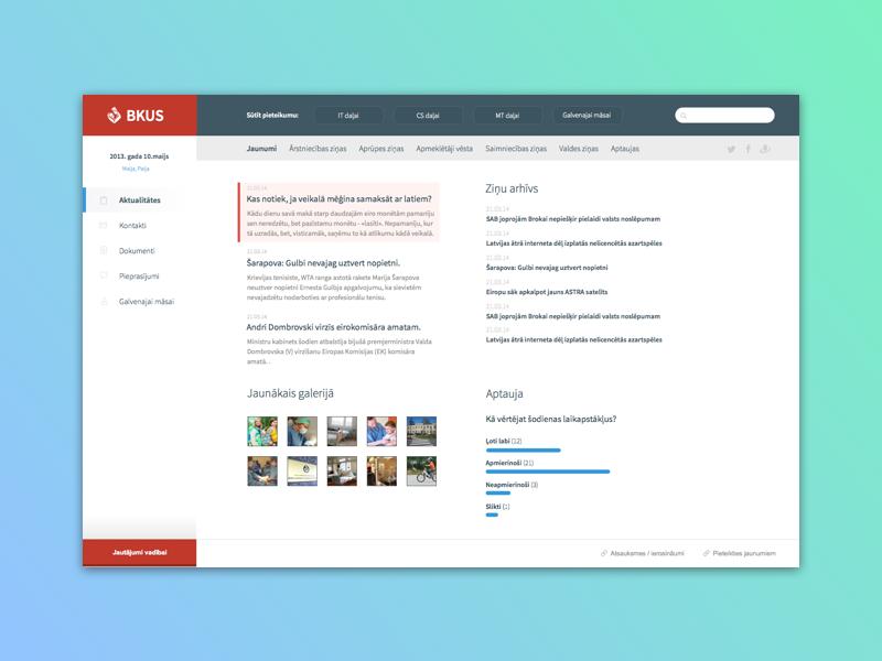 News portal for hospital ui ux webdesign web dashboard