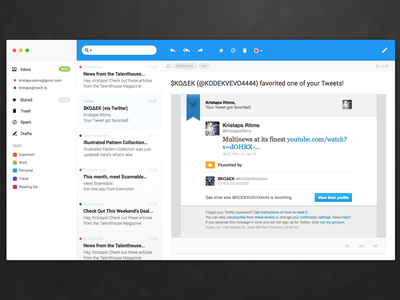 Sunday practise ui email ux app riga latvia application macos blue google