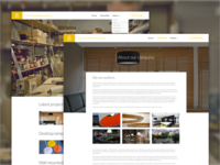 Webpage for custom lamp company