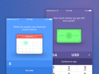 On-boarding for personal finance app