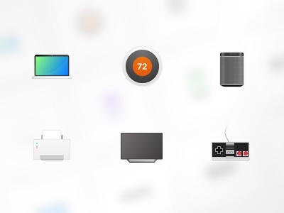 Device icons gaming printer sonos nest tv macbook icon kit icons
