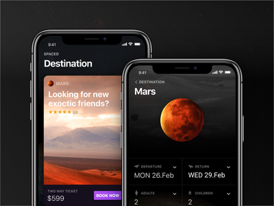 #SPACEDchallenge - To space and back, safely. booking travel mobile mobile app latvia riga application ui app spacedchallenge