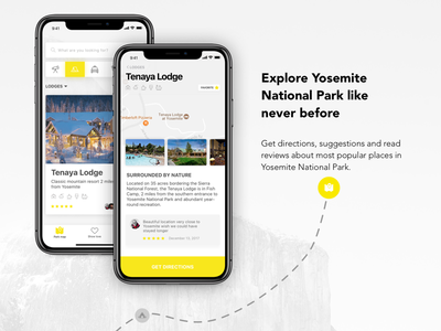 YOSEMITE CONSERVANCY - Mobile app #yosemitechallenge latvia riga yosemitechallenge light application ios app hiking app travel app mobile ui