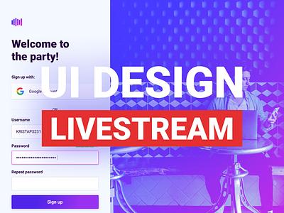 My first livestream 🎉 clean ux live riga app design website application latvia web ui