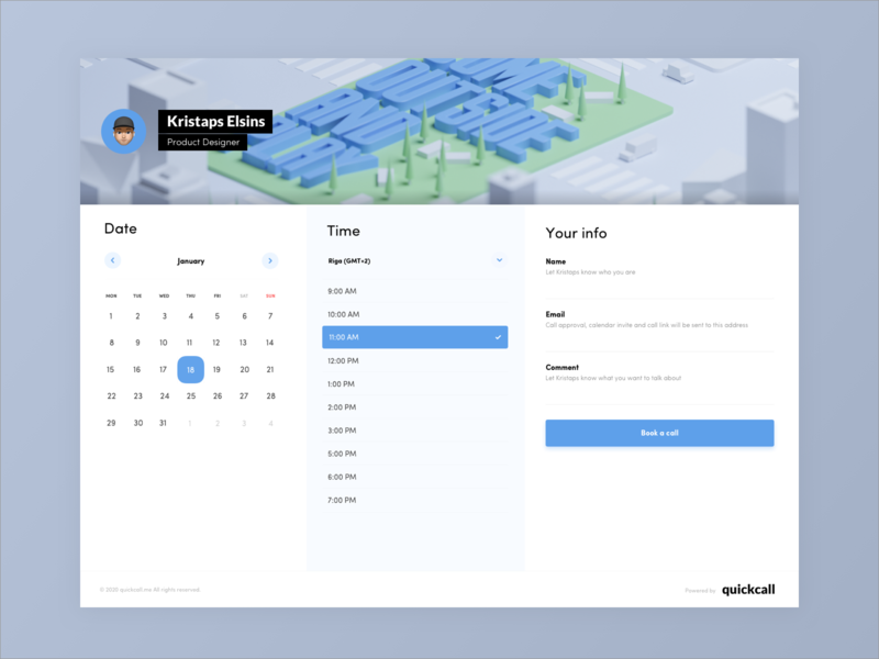 Contact me - Concept scheduling scheduler contact form timepicker schedule contactform calendar contact sketch dailyui clean ux application web app riga latvia ui