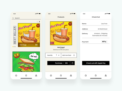 Food Ordering new ordering food uiux design app